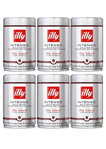 illy - Whole Bean Coffee - Dark Roast - 8.8 oz (250g) - Case Pack of 6