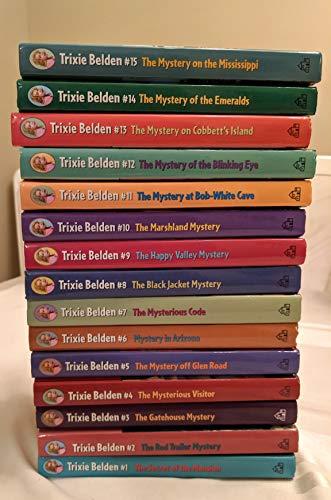 (Complete Set of Trixie Belden Random House Edition: Mansion, Trailer Gatehouse, Visitor, Arizona, Code,Black Jacket, Marshland. . . .)