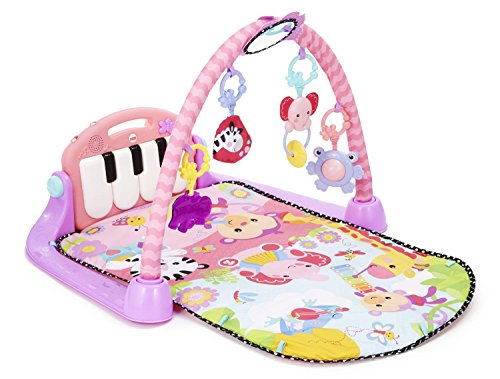 Fisher-Price Kick and Play Piano Gym, Pink