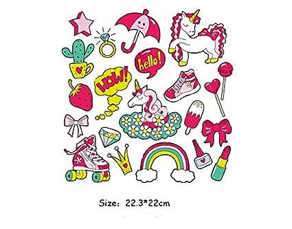 Pegatinas transfer parches termoadhesivo friki unicornios novedad verano 2018 para camisetas, cazadoras, jerseys,