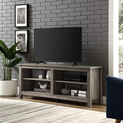 Home Accent Furnishings New 58 Inch Wide Grey Wash Finish Television Stand