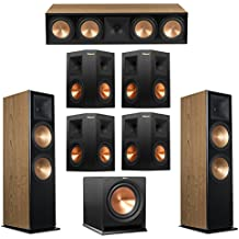 Klipsch 7.1 Cherry System with 2 RF-7 III Floorstanding Speakers, 1 RC-64 III Center Speaker, 4 Klipsch RP-250S Surround Speakers, 1 Klipsch R-112SW Subwoofer