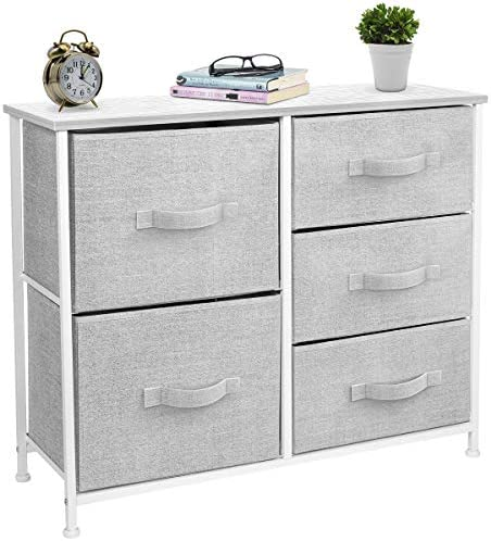 picture of Sorbus Dresser - 5 Drawers » Furniture Storage Tower Unit for