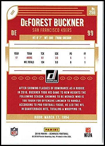 5628ecd4c Amazon.com  2018 Donruss Press Proof Silver  256 DeForest Buckner  100 49ers  Football  Collectibles   Fine Art