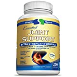 MSM Chondroitin Glucosamine Joint Support - 2000 mg MSM, 100% More Than Most Other Brands - Best Max Strength Supplement For Better Mobility & Pain Relief For Hip, Knee & Joints - By Steele Spirit