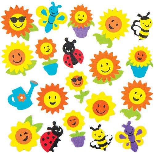 Baker Ross- Pegatinas de Espuma con Diseños de Girasoles e Insectos (Pack de 120) para Decorar Tarjetas, Cuadernos, Manualidades y Collages Infantiles: Amazon.es: Juguetes y juegos