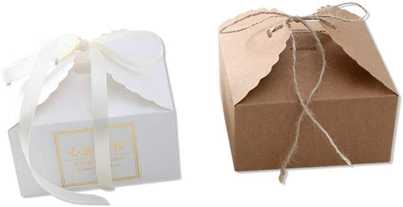 Papel Kraft Galleta de la Tarjeta Blanca de la Caja Cuadrada de West Point Caja de