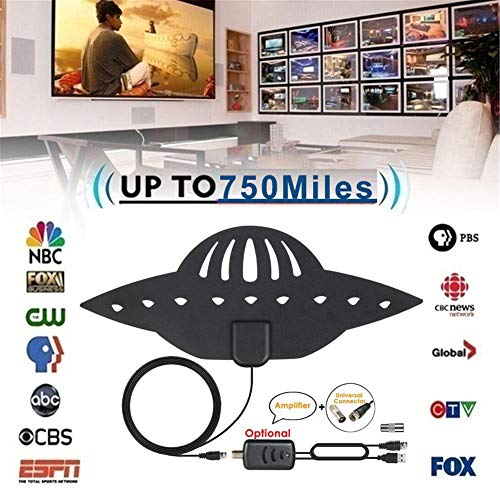 NMSLA TV Antenna for Digital TV Indoor, Amplified HD Digital TV Antenna with 120 Miles Long Range, Support 4K 1080P & All Older TV's for Indoor with Powerful HDTV Amplifier