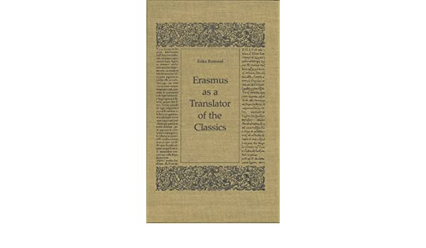 Erasmus as a translator of the Classics