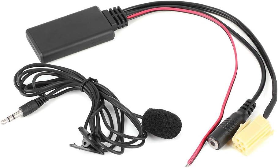 Adaptador de cable de audio Bluetooth para coche adaptador auxiliar de manos libres de 59,1 pulgadas con micr/ófono apto para Alfa Romeo 159//Fiat Grande Punto