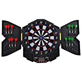 Goplus Professional Electronic Dart board Cabinet Set Dartboard Game Room...