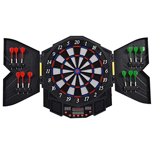 Why Choose Goplus Professional Electronic Dart board Cabinet Set Dartboard Game Room LED Display w/ ...