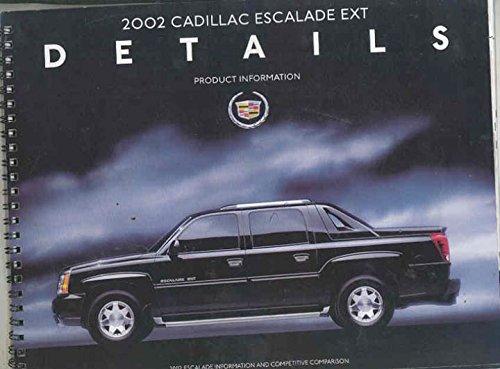 2002 Cadillac Escalade EXT Pickup Salesman's Book Brochure