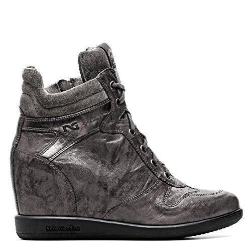 NERO GIARDINI zapatos de gimnasia CUÑA ZAPATILLAS CORDÓN INTERIOR ALTO MEDIO DE LA MUJER DE CUERO / Suede - A513860D - 109 - LEAD INVIERNO 13860 CAÍDA: ...