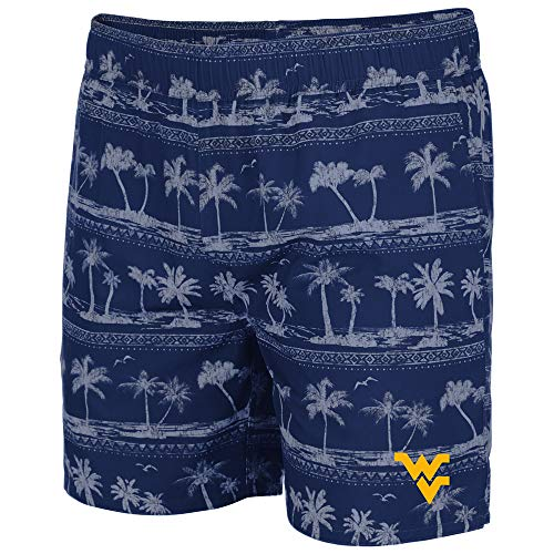 Colosseum Mens WVU West Virginia Mountaineers Maui Swim Shorts - XL