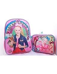 JoJo Siwa Girls School Backpack Lunch Box Book Bag Combo SET