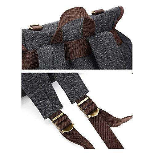 Leichte Canvas Schultasche Rucksack groß Kapazität Rucksack Schultertasche Daypack Für 35,6cm Laptops khaki