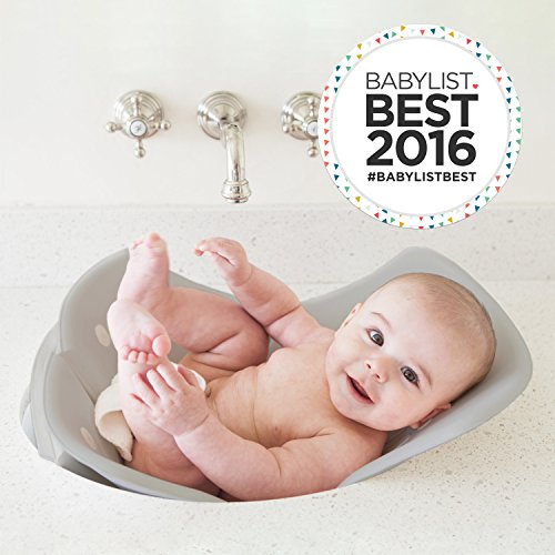 Puj Tub - The Soft, Foldable Baby Bathtub - Newborn, Infant, 0-6 Months (Grey)