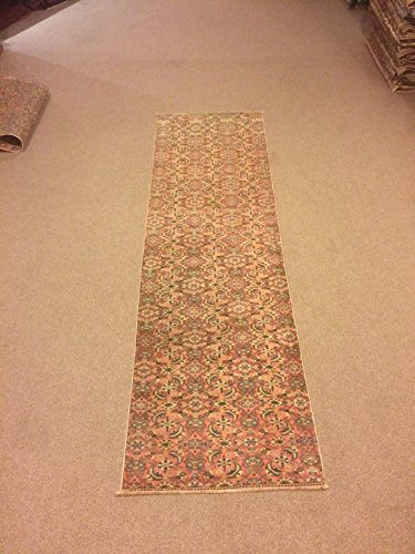 2.5x8.3 Feet Orange Colour Narrow Rug Runner Ethnic Rug Runner Vintage Aisle Rug Corridor Rug Hallway Carpet Kitchen Rug.Code:K656