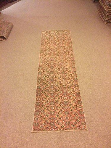 2.5x8.3 Feet Orange Colour Narrow Rug Runner Ethnic Rug Runner Vintage Aisle Rug Corridor Rug Hallway Carpet Kitchen Rug.Code:K656