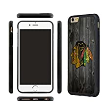 CHICEXP Fitted iPhone 6/6s Case Shell Chicago Blackhawks Team style- with Tempered Glass Screen Film