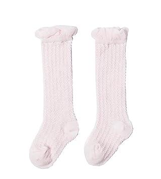 neueste art klassische Stile viel rabatt genießen 2 Paar Baby Kniestrümpfe Kinder Tube Socken Pink: Amazon.de ...