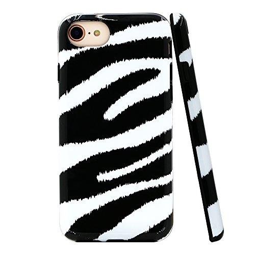 - Lartin Chic Zebra Print Soft Flexible Jellybean Gel TPU Case for iPhone 8/iPhone 7/iPhone 6S/iPhone 6