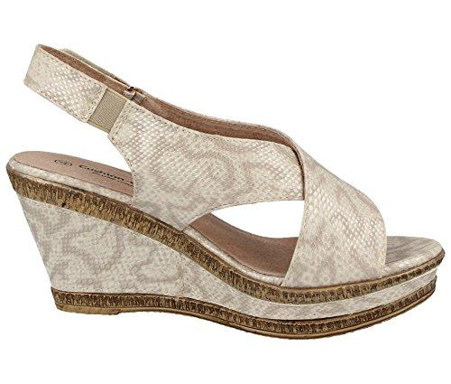 Correa Tobillo Zapatos de con Dorado Cushion Walk Mujer wqfStWFP