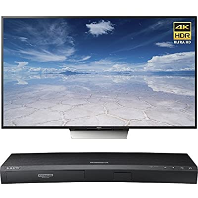 Sony 65-Inch Class 4K HDR Ultra HD TV (XBR-65X850D) with Samsung 3D Wi-Fi 4K Ultra HD Blu-ray Disc Player