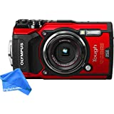 Olympus TG-5 Waterproof Camera with 3-Inch LCD, (Red)