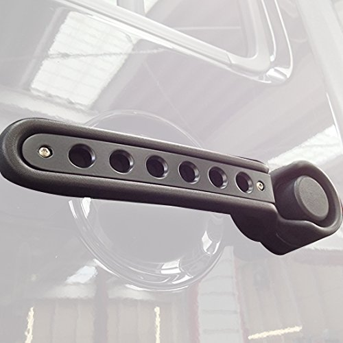 ICars Black Door Handle Inserts Front Rear Aluminum Grab Handle