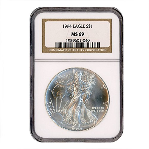 1994 American Silver Eagle $1 MS69 NGC
