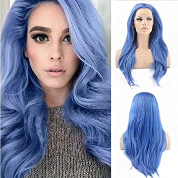 Blue Bird Lace Front Synthetic Wigs Natural Straight Long Fashion