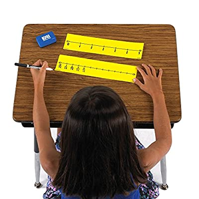 EAI Education Dry-Erase Student Fraction Number Lines - 10 Sets of 4: Toys & Games