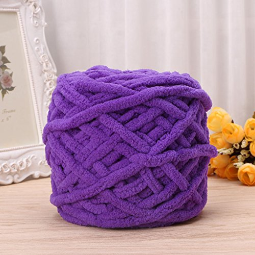 Mimgo100g/1ball Pure Color Soft Cotton Hand Knitting Yarn Chunky Woven Bulky for Scarf Sweaters Gloves (Pure Cotton Yarn)