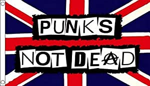 """Less Than Jake """"Punks Not Dead"""" Anarchy Flag 5'x3'"""