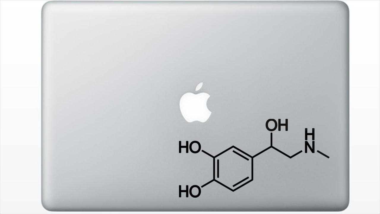 White Adrenaline Molecule Structure Decal by I Heart Equations