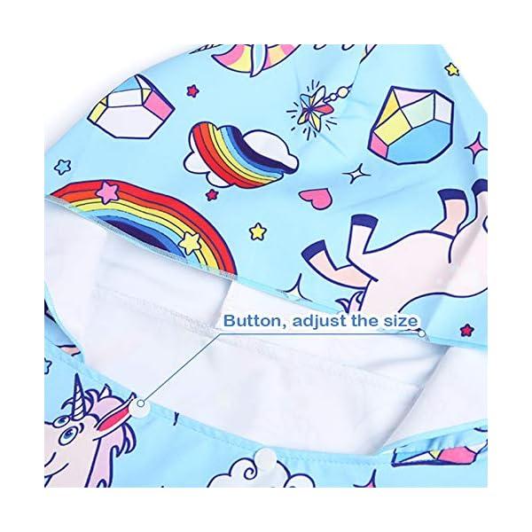 Poncho con Cappuccio Bagno per Bambini Asciugamani con Asciugamano da Bagno Asciugamano da Spiaggia Microfibra… 5 spesavip