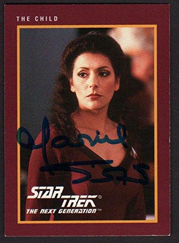 MARINA SIRTIS SIGNED 1991 STAR TREK NEXT GENERATION TRADING CARD #74 AUTOGRAPH (Star Trek The Next Generation Trading Cards 1991)
