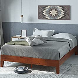 Zinus Wen 12 Inch Deluxe Wood Platform Bed Frame / Solid Wood / Mattress Foundation with Wood Slat Support / No Box Spring Needed / Easy Assembly, Full