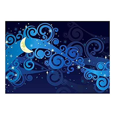 Grand Technique, Beautiful Illustration of Swirls and a Nighttime Sky Wall Mural, Made to Last