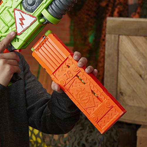 51GxzWlrL9L - NERF Revoltinator Zombie Strike Toy Blaster with Motorized Lights Sounds & 18 Official Darts for Kids, Teens, & Adults