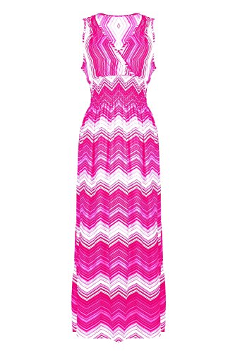 G2 Chic Women's Printed Summer Maxi Dress(DRS-MAX,PNKA4-M)
