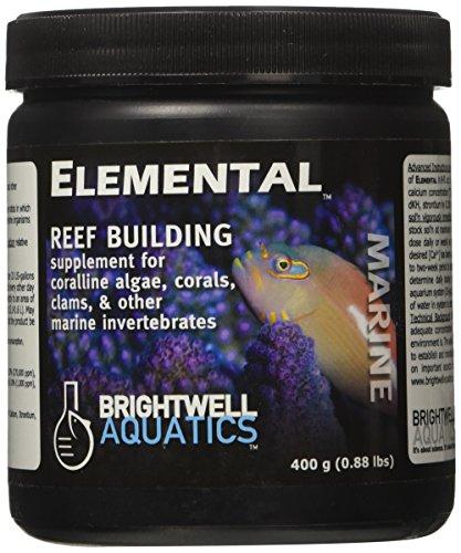Brightwell Aquatics Elemental, reef building supplement for corallin algae, corals, clams, & other marine invertebrates, 400g (0.88lbs)
