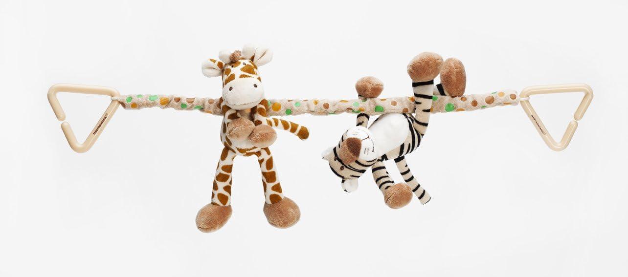 String Teddykompaniet Diinglisar Wild Giraffe and Tiger Baby Pram Toy