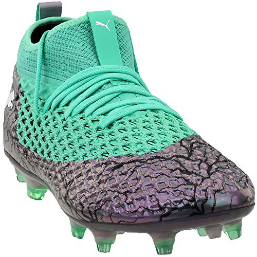 PUMA Mens Future 2.2 Netfit Firm Ground/Artificial Grass Soccer Athletic Cleats Green 10.5 ()