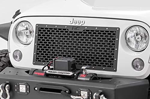 (Rough Country - 10520 - Jeep Laser-Cut Mesh Replacement Grille (Wrangler JK/JKU) for Jeep: 07-18 Wrangler JK 4WD, 07-18 Wrangler Unlimited JK 4WD/2WD)