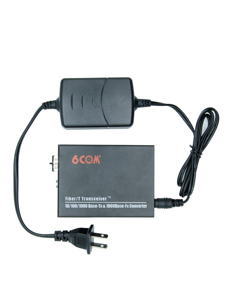 6COM Gigabit Ethernet Media Converter, 10/100/1000Base-TX to 1000Base-FX SFP Slot, without Transceiver by 6COM (Image #4)