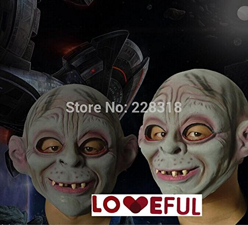 [2015 - New Quality Cute Funny Gollum Latex Clown Mask For Halloween Costume Party ---Loveful] (Gollum Mask Costume)