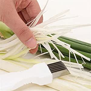 High Quality green onion Cutter Slicer Vegetable Shred Kitchen Tools (White)